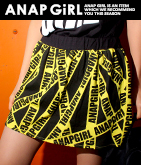 テープ柄インパンツ付きスカート