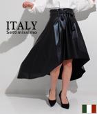 ITALY フェイクレザーテールカットスカート