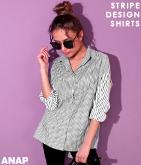 ストライプBIGシャツ