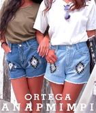 オルテガ刺繍ショートパンツ