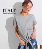 ITALY 裾ノットスウェットトップス