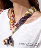 スカーフ柄ネックレス