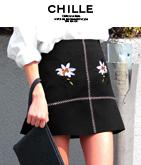 刺繍ミニスカート