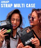『ANAP』ロゴストラップクリアマルチケース