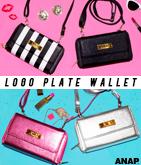 『ANAP』ロゴプレート付財布