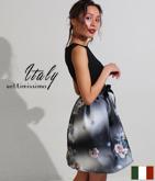 ITALY オンブレーフラワープリントドレス