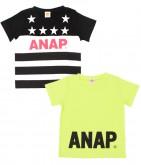 USフラッグプリント+シンプルTシャツ2枚セット