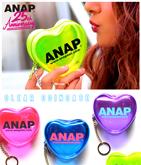 ANAP 25th ロゴハート型ビニールコインケース