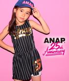 ANAP 25th ストライプナンバーワンピース