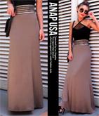 ウエストシースルーゴールドラインロングスカート