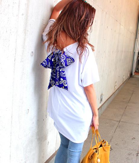 バンダナスカーフチュニックTシャツ