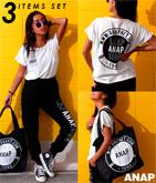 『ANAP』ロゴTシャツ+パンツ+バッグ 3点SET