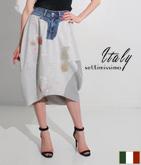 ITALY リメイク風スウェットスカート