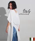 ITALY カットオフスリットドルマンTシャツ