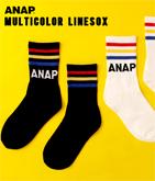 『ANAP』3本ラインスポーティソックス