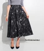 グログランフラワーイラストスカート