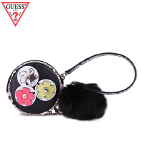 GUESS  MIX MATCH POM POUCH KEYCHAIN