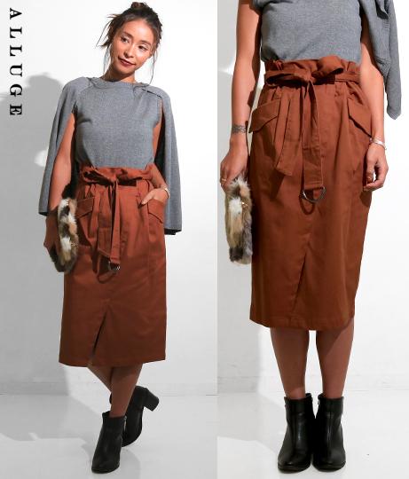 リボンベルトタイトスカート