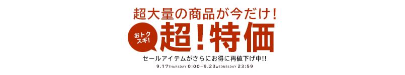 【9/18(金)23:59まで!!】限定超特価!!