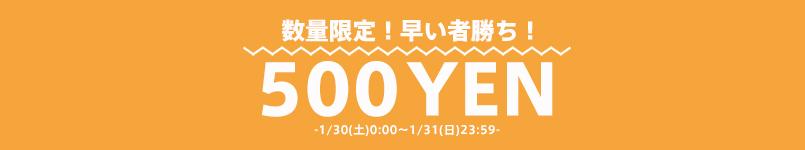 【1/31(日)23:59まで!】500円均一SALE!