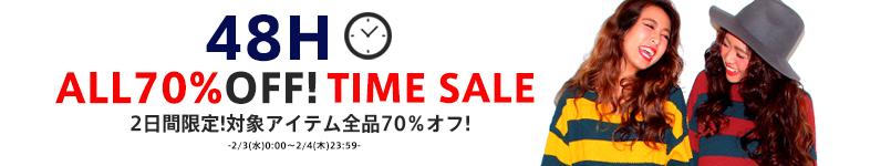��2/4(��)23:59�ޤǡ���ALL70%����SALE��
