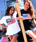 ANAP 25th アメリカンフラッグロゴTシャツ