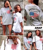 USAバックプリントポケットTシャツ