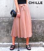 リボン付ロングスカート