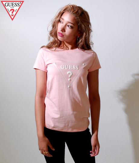 GUESS S/S TRIANGLE  LOGO TEE