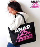 ANAP 25th ロゴナイロントートバッグ