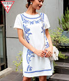 GUESS S/S JACKIE EMBROIDERED DRESS