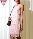 GUESS SL SCALLOP LACE SHIFT DRESS