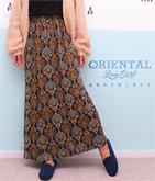 オリエンタル柄ロングスカート