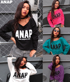 『ANAP』ロゴプリントロンTEE