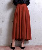 サンディングスエードテールカットスカート