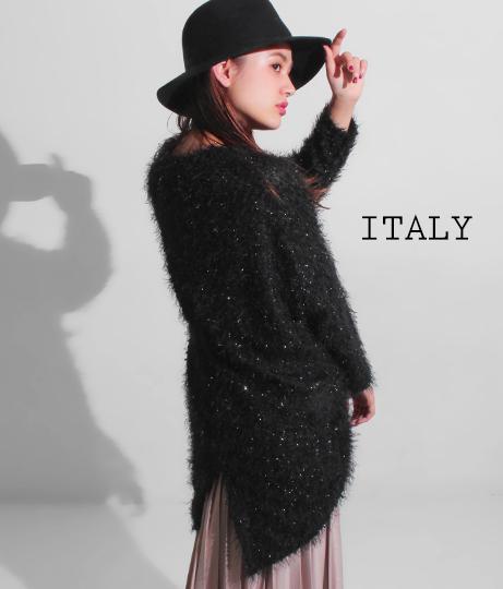 ITALY シャギーヤーンBIGニット