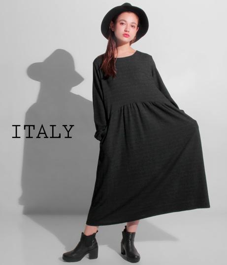 ITALY オーバーサイズルーズワンピース