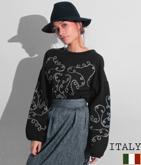 ITALY コードデザインプルオーバー