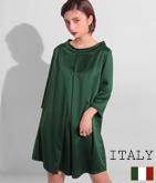 ITALY フロントデザインフレアーワンピース