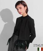 ITALY フェザーヘムデザインジャケット