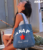 『ANAP』ロゴデニム風バッグ