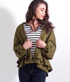 フレアデザインジップジャケット
