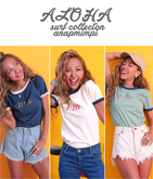 ALOHAリンガーTシャツ