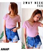 2WAYシンプルタイトTシャツ