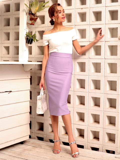 シンプルロングタイトスカート